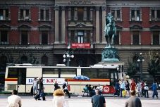 Plac Republiki - pomnik księcia Mihailova